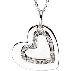 Mother and Son Heart  Pendant & Chain