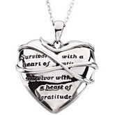 Survivor with a Heart of Gratitude Necklace