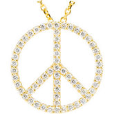 Petite Peace Sign Pendant Mounting