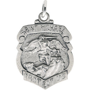 Sterling Silver 18x14mm St. Michael Medal