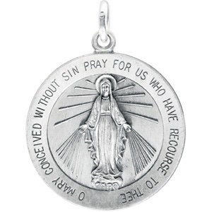 Sterling Silver 22mm Miraculous Medal