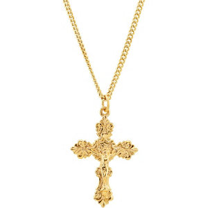 24kt Gold Plated Crucifix Necklace