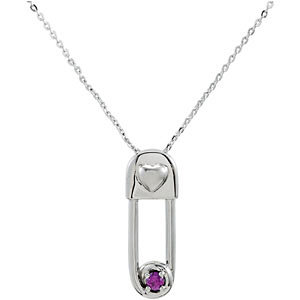 Safe in My Love Birthstone Necklace