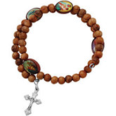 Olive Wood Wrap Rosary
