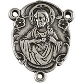Sacred Heart of Jesus Rosary Center Medal