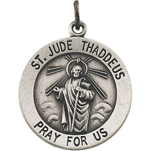 Sterling Silver 18.5mm St. Jude Medal