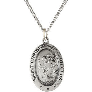 Oval St. Christopher Medal
