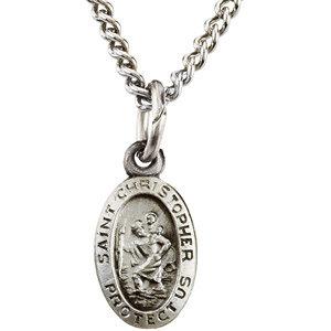 Oval St. Christopher Medal
