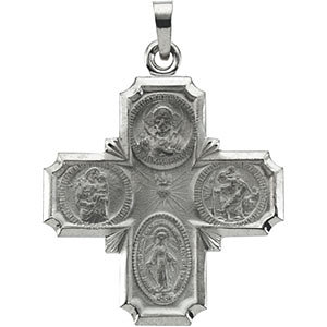 Four-Way Cross Medal Necklace