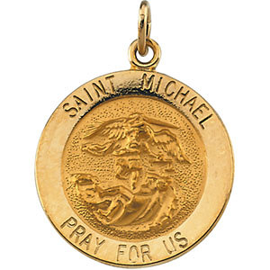 Round St. Michael Medal
