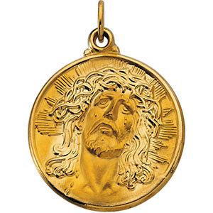 Round Face of Jesus (Ecce Homo) Medal