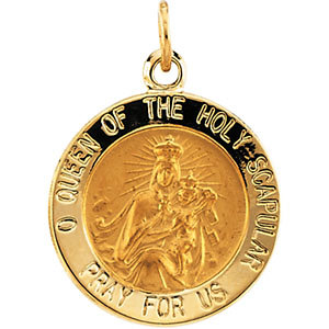 Round Scapular Medal