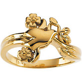Holy Spirit Dove & Flower Ring