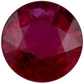 Round Genuine Commercial Ruby