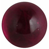 Round Genuine Cabochon Ruby