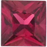 Square Genuine Madagascar Ruby