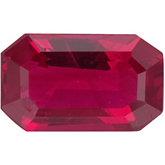 Emerald/Octagon Genuine Ruby
