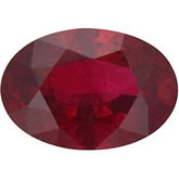 Oval Genuine Ruby