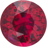Round Genuine Mozambique Ruby