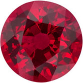 Round Genuine Ruby