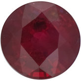 Genuine Ruby - Round Faceted Dark; Commercial 2 Quality