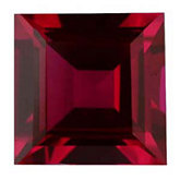 Square Imitation Ruby