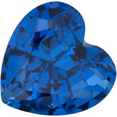 Chatham® Created Blue Sapphire - Heart Shape Faceted; Gem Quality