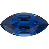 Marquise Chatham Created Blue Sapphire