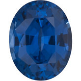 Oval Chatham Created Blue Sapphire