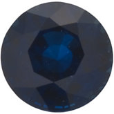 Genuine Blue Sapphire - Round Faceted; A Quality