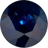 Genuine Blue Sapphire - Round Faceted; B Quality