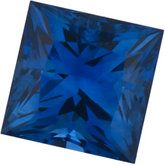 Genuine BLUE Sapphire - Square Princess Ceylon Color; AA Quality