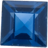 Genuine Blue Sapphire - Square Step Ceylon Color; A Quality