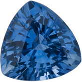 Genuine Blue Sapphire - Trillion Faceted Ceylon Color; A Quality