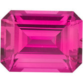 Emerald/Octagon Chatham Created Pink Sapphire