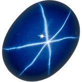 Oval Lab Created Blue Star Sapphire