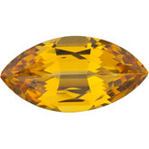 Marquise Lab Created Yellow Sapphire