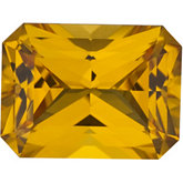 Emerald/Octagon Chatham Created Yellow Sapphire