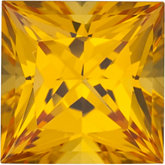 Square Lab Created Yellow Sapphire