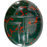 Oval Genuine Bloodstone Scarab