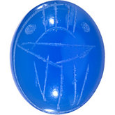Oval Genuine Blue Onyx Scarab