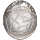 Oval Genuine Clear Crystal Scarab