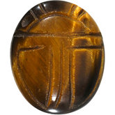 Oval Genuine Tigereye Scarab