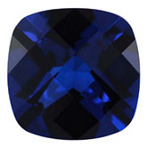 Antique Square Imitation Blue Sapphire