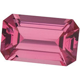Emerald/Octagon Genuine Pink Spinel