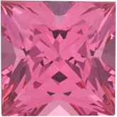 Square Genuine Pink Spinel