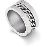 Stainless Steel Ring with Rope Pattern