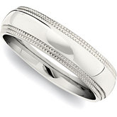 Stainless Steel Band with Double Milgrain