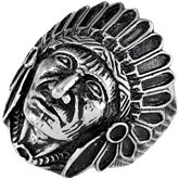 Stainless Steel Indian Head Ring