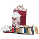 Maroon Large Kraft Shopping Tote
